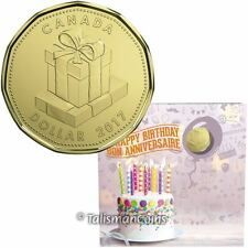 Canada 2017 Birthday 5 Coin Mint Gift Set w Special $1 Birthday Presents Loonie