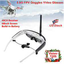 """68"""" FPV Goggles HD Video Glasses 5.8G 40CH With Battery For H502S H501S RC Drone"""