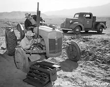 Repairing a Ford Tractor, Manzinar, California - 1943 - Historic Photo Print