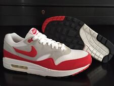 2009 NIKE AIR MAX 1 QS RETRO WHITE SPORT RED NEUTRAL GREY BLACK 10.5 EUR 44.5 LE