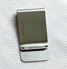 Billete clip de acero inoxidable pulido dinero clip monedero Cartera Money clip