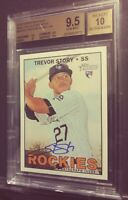 2016 Topps Heritage Trevor Story Real One RC Auto BGS 9.5/10