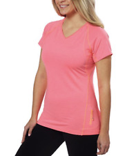Kirkland Signature Ladies' Striped Active Yoga Tee Size Medium - Pink