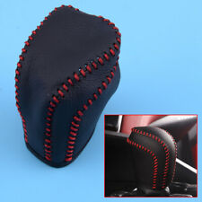 Leather Gear Shift Lever Knob Cover Shell Trim Red Stitch Fit for Toyota Camry