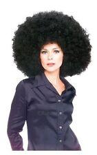 Adult 70s Black Super Mega Afro Wig Ladies Fancy Dress Costume Party Accessory