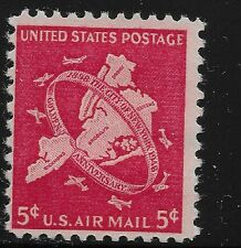 US Scott #C38, Single 1948 Air Mail 5c FVF MNH