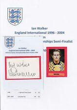 IAN WALKER ENGLAND INTERNATIONAL 1996-2004 ORIGINAL HAND SIGNED CUTTING/CARD