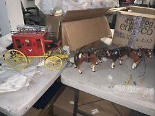 New listing Melba Ware Us Mail Stagecoach & 3 Horses vintage