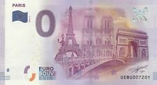 A 2016-2 BILLET 0 EURO SOUVENIR - UE BU - 75 PARIS VERSION 1