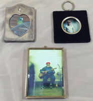 Miniature Picture Frame 3 Vintage - Bubble Glass - Japan Velvet Portrait - Heart