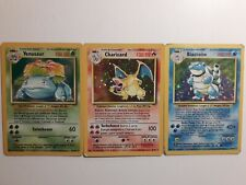Venusar Charizard Blastoise Base Set Holo Unlimited (Played/Good)