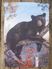 "Black Bear hangs out in tree, Mountains, Wild Animal, Garden Flag 12.5""x18"""