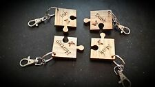 4 Ever Friends Personalised 4 Piece Jigsaw Keyrings Solid Wood Keyring