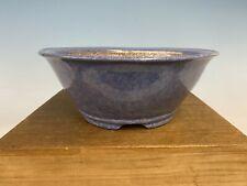 Blue Purple Glazed Shohin Size Tokoname Bonsai Tree Pot By Shuho 8 3/4 By 3 1/2�