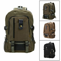 Unisex Men Vintage Canvas Backpack Rucksack School Satchel Shoulder Travel Bag