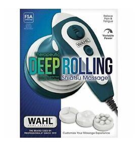 WAHL Therapeutic Deep Pain Rolling Shiatsu Heat Massager Muscle Massage 4291 NEW