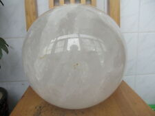 BIGGEST!!! NATURAL CLEAR QUARTZ CRYSTAL SPHERE BALL HEALING 36000g