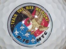(1) Air Force United States Military Logo Golf Ball Train The Way We Fight F16