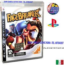 FACE BREAKER PS3 GIOCO NUOVO INGLESE @ @ PLAYSTATION3 EDIZIONE ITALIANA