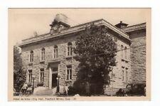 Hôtel de Ville THETFORD MINES City Hall Quebec Canada 1940s PECO Postcard 30