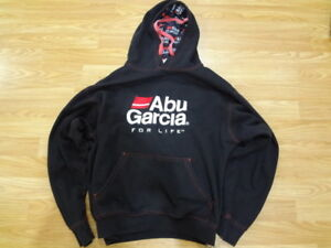 Abu Garcia For LIfe Hoodie Size Youth Medium M Black