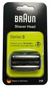 BRAUN 21B SERIES 3 ELECTRIC SHAVER REPLACEMENT FOIL CASSETTE CARTRIDGE - BLACK