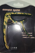 Camouflage Trigger Capo (with bridge pin remover) For Acoustic / Electric Guitar