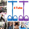 Foot Pedal Pull Rope Resistance 4-Tube Home Fitness Yoga Gym Equipment Sit-up
