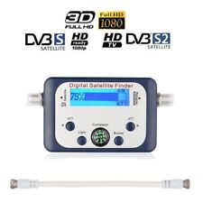 HDTV Digital Satellite Signal Strength Finder Meter Dish SAT Compass Receiver UK