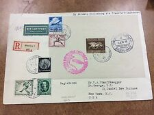 {BJ Stamps} 1936  Hindenberg Zeppelin cover LZ 129 Olympics Si 428B  to NY