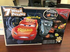 Cars 3 Disney Pixar  7 Wood Puzzles - Fast Jackson Storm, Cruz Ramirez Brand New