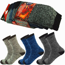 6 Pairs Winter Mens Thermal Heavy Duty Heated Super Warm Socks Boots Size 10-13