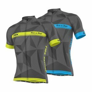 FDX Mens Classic Cycling Jersey Half Sleeve Breathable Lightweight Biking Tops