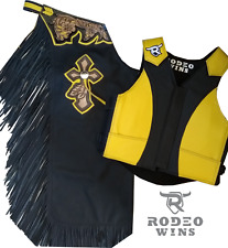 Set Chaps And Vest - Bull Riding - Free Shipping To Us