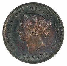 1901 Canada 5c Nickel - ICCS MS-62 Monster Toned