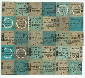 15 Different Victorian Country Return Tickets