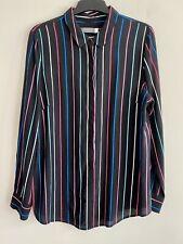 Mint Velvet Size 14 shirt /blouse . Black/candy Stripes