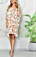 NWT Top Dress V Neck Floral Autumn Tones Plus Sizes L to XXL New Collection