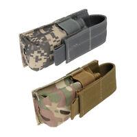 2Pcs Tactical Molle Belt Single Mag Bag Tool Pouch Flashlight Sheath Holster