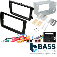 VW Scirocco Car Stereo Double Din Flush Fascia Panel Wiring Aerial & Cage Kit
