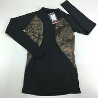 TSLA Tesla TM R44 Cool Dry Short Sleeve Compression T-Shirt Black/Camo Size XS