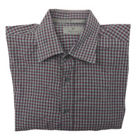Canali Men's XL Plaid Long Sleeve Button Front Luxury Shirt Italy Silver Label