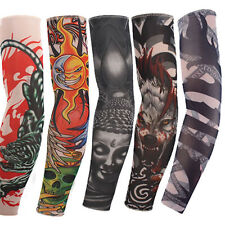5pcs Mix Nylon Stretchy Temporary Tattoo Sleeve Fashion Arm Stockings New