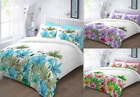 New Lily Flower Duvet Cover With Matching Pillow Cases Single Double Super King
