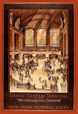New York Grand Central Terminal Station Central Lines  Poster Print