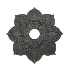 Black Metal 4.5cm Large Hole Hookah Trays For Shisha Chicha Narguile Accessories