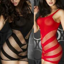 Sexy Flirty Erotic Valentine Romantic Red Fishnet Babydoll Dress One Sz