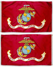 2X3 FT USMC American Marines Marine Corps Double Sided Flag Grommets 150D NYLON