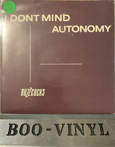 "BUZZCOCKS I DON'T MIND / AUTONOMY 1978 UK PRESS 7"" VINYL RECORD SINGLE EX/EX"