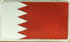 BAHRAIN Flag Patch With VELCRO® Brand Fastener WHITE Border #6